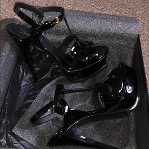 Ysl 100 percent authentic black Nero heels